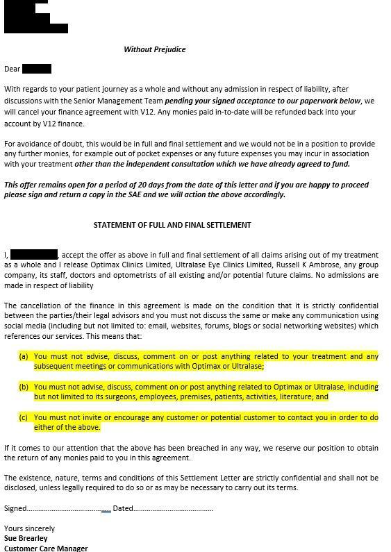 Optimax Settlement Agreement